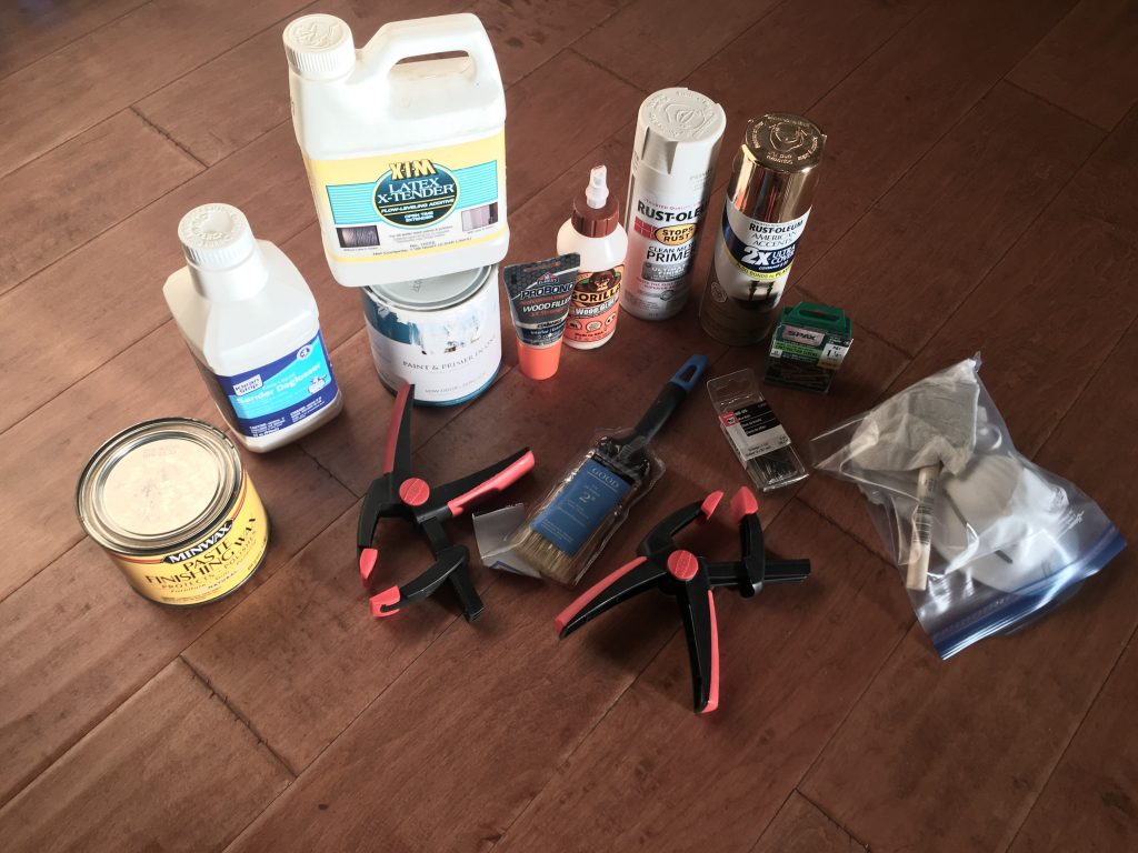 Dresser makeover supplies