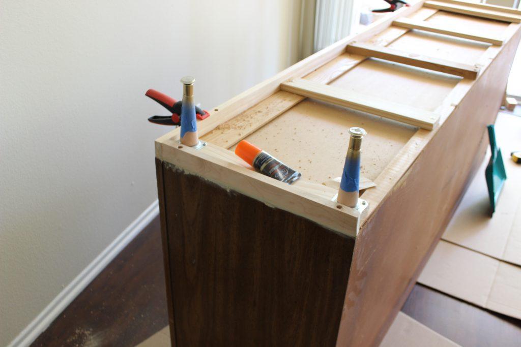 Add legs to a dresser