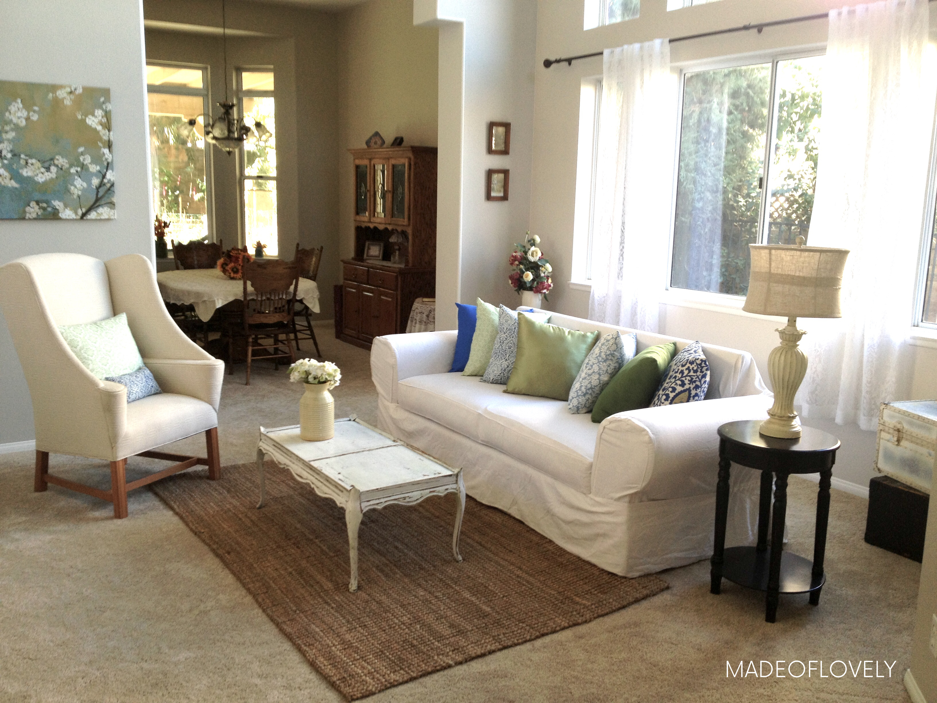 French Country Living Room On A Budget