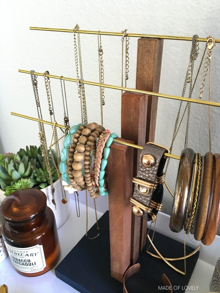 Affordable DIY Jewelry Stand