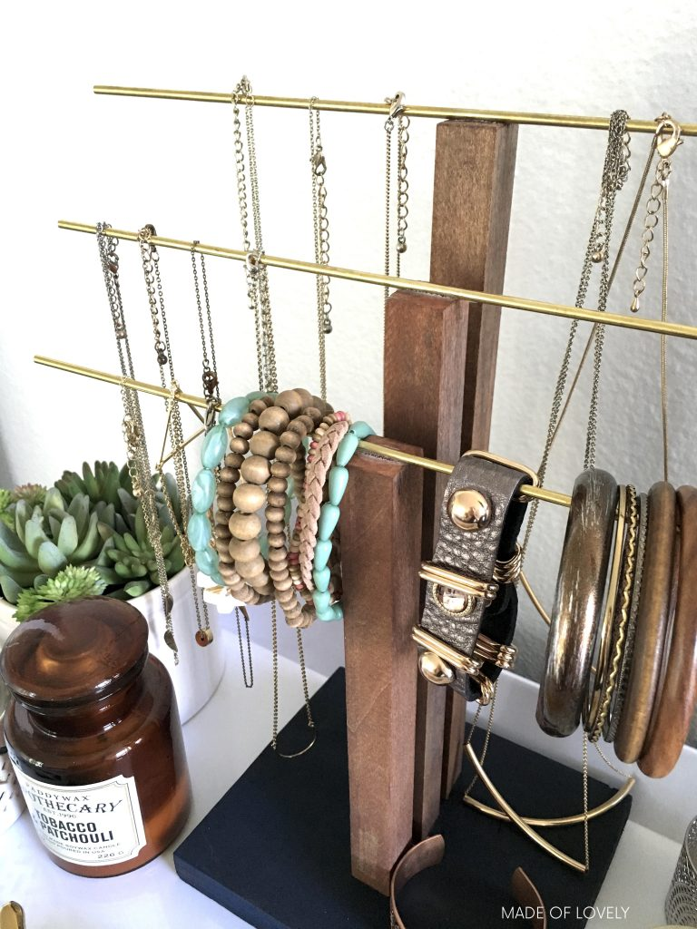 How to make a jewelry stand | Made of Lovely